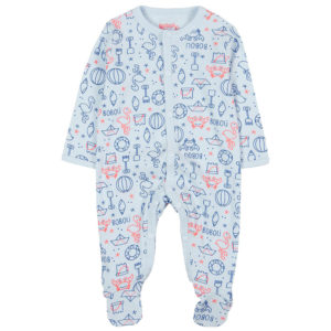 Boboli Φορμάκι Ribbed play suit for baby 117065-9002