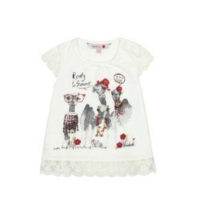 Boboli Μπλούζα Knit t-Shirt flame for baby girl 217033
