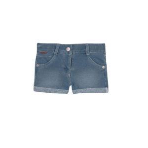 Boboli Σορτς τζιν Fleece denim shorts for baby girl 297042 bleac