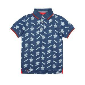 Boboli Πόλο Knit polo flame for boy 507103